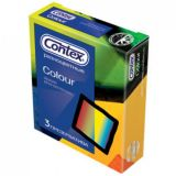 Condoms CONTEX Colour, 3 PCs