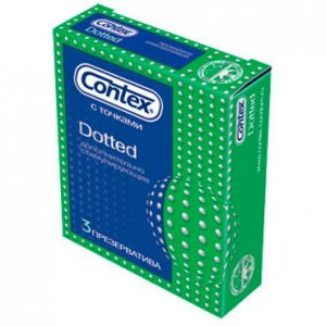 CONTEX condoms Dotted, 3 PCs. Артикул: CON3DOT