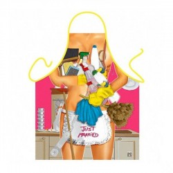 SALE! Erotic apron - married 2 / Just Married Domestic Works Woman