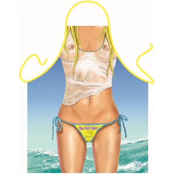 РАСПРОДАЖА! Эротический фартук - В мокрой футболке / Miss Wet T-Shirt