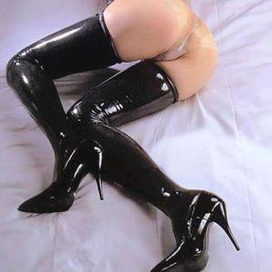 Black long stockings. Артикул: IXI10011
