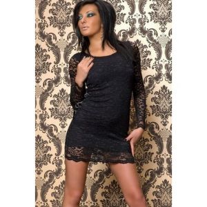 Black dress with lace side panels. Артикул: IXI10403