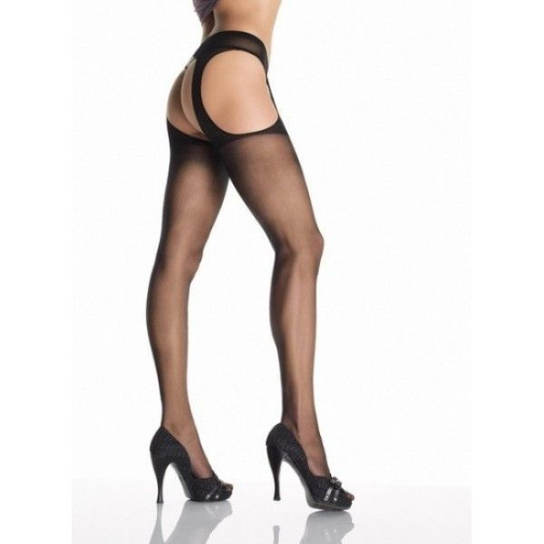 Tights with cutouts in the form of a garter