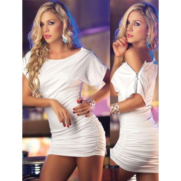 Купить онлайн Бело-золотое мини платье фото цена акция распродажа