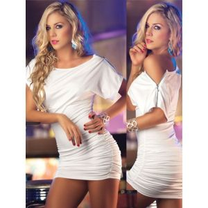 White club dress with zippers. Артикул: IXI11241