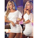 White club dress with zippers