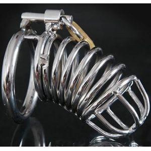 Стальное устройство целомудрия Diamondring De Luxe