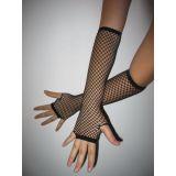 Чёрные перчатки сетка цена фото
