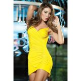 Yellow club dress.