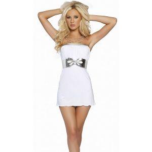 Мини-платье с широким поясом - Платья