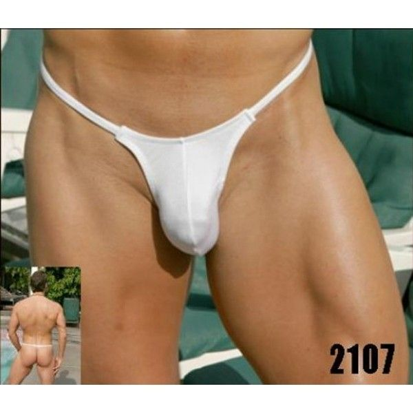 Mens Thong white