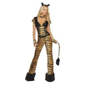 Костюм-комбинезон роковой тигрицы - Карнавальные костюмы