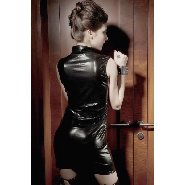 Mini dress with accent neckline. Артикул: IXI12328