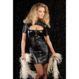Виниловое платье с глубоким декольте по оптовой цене