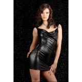 Короткое виниловое платье