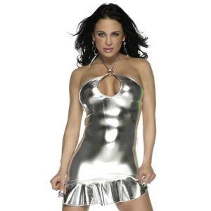 Виниловое платье с  трусиками