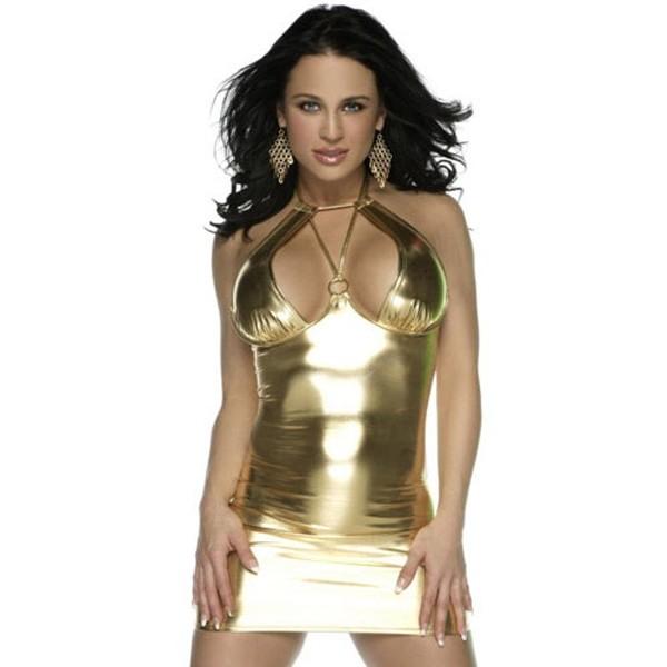 Купить онлайн Виниловое платье с шипами фото цена акция распродажа