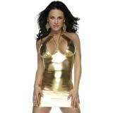 Виниловое платье цвета золото цена фото