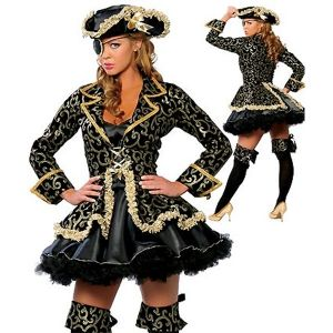 Роскошный пиратский костюмсо шляпой