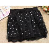 Черная юбка в горошек по оптовой цене