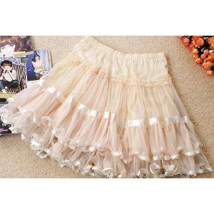 Mini skirt cream