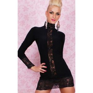 Little black dress with geprofile inserts. Артикул: IXI12683