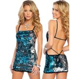 Shimmering lace fashion dress clubwear