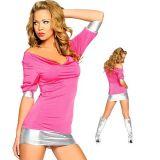 Клубное платье розового цвета по оптовой цене