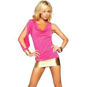 Клубное розовое мини-платье - Платья