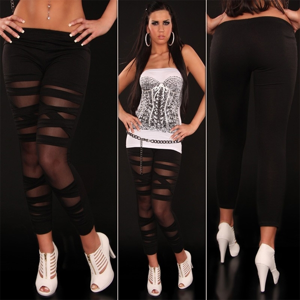 Leggings with large slots. Артикул: IXI12804