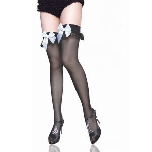Stockings one-piece pattern with bows on elastic band