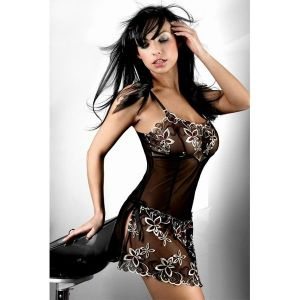 Exciting negligee with blestjashie flowers