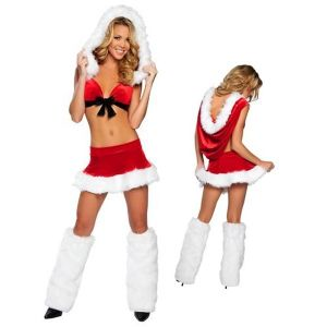 Costume cute Santa with fur frill