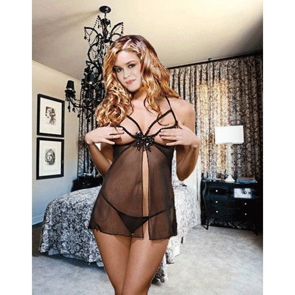 Sexy negligee with open Breasts
