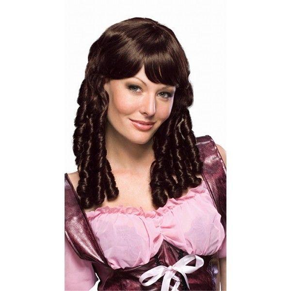 Темно-коричневый парик с кучерями