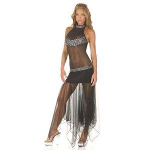 Откровенное черное платье