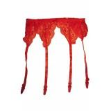 Красный кружевной пояс с подвязками цена фото