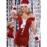 Вельветовый рождественский костюм
