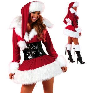 Velvet Christmas costume