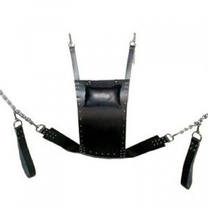Black leather latch, swing for sex. Артикул: IXI13180