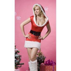 Меховой рождественский костюм