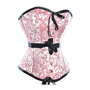Festive corset with print pink