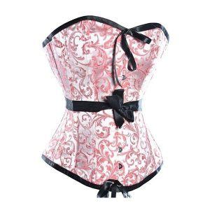 Праздничный корсет с принтом розового цвета - Корсеты