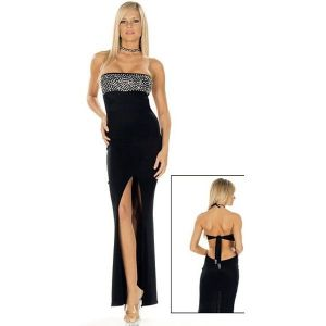 Sexy evening dress black