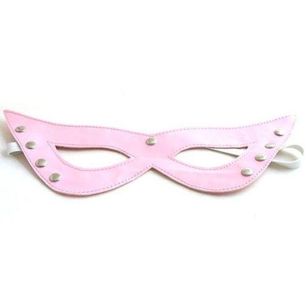 Розовая нежная маскарадная маска