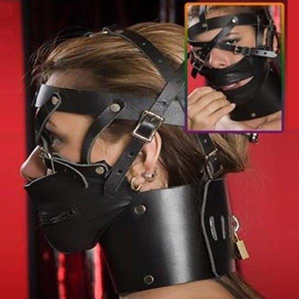 BDSM (БДСМ) - Черный намордник с воротом