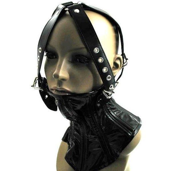 BDSM (БДСМ) - Черный намордник из экокожи