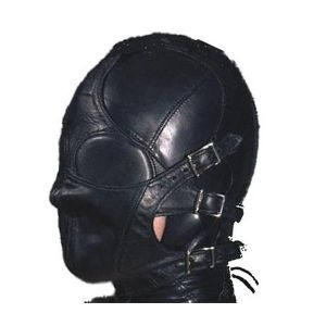 Leather mask with straps on the face. Артикул: IXI13574