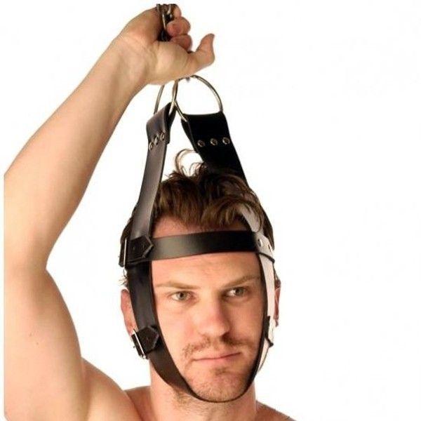 BDSM (БДСМ) - Кожаный крепитель для головы