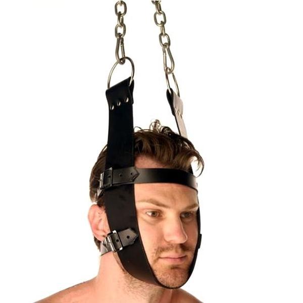 BDSM (БДСМ) - <? print Кожаный крепитель для головы; ?>